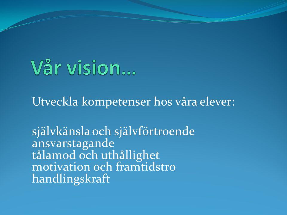 Vår vision… Utveckla kompetenser hos våra elever: