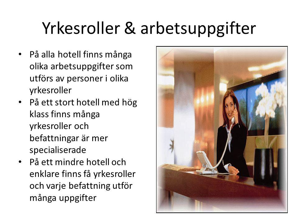 Yrkesroller & arbetsuppgifter