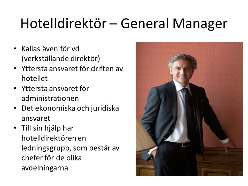 Hotelldirektör – General Manager