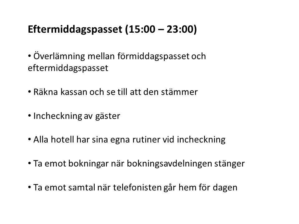 Eftermiddagspasset (15:00 – 23:00)