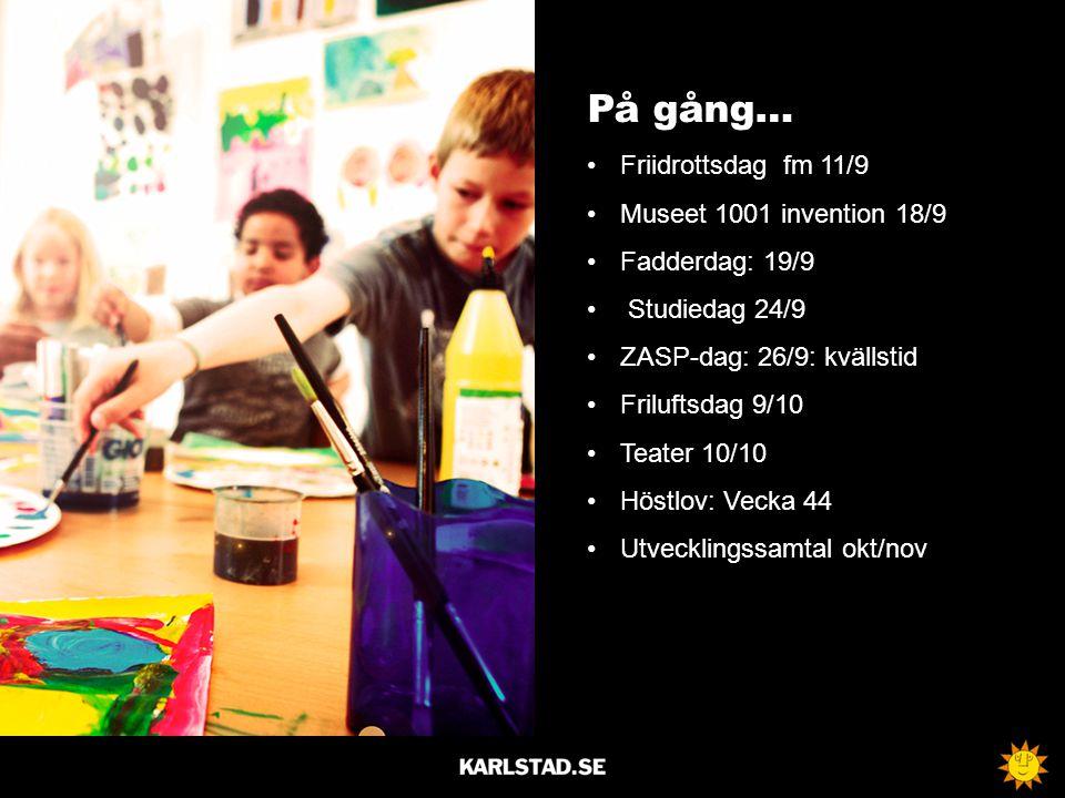 På gång… Friidrottsdag fm 11/9 Museet 1001 invention 18/9