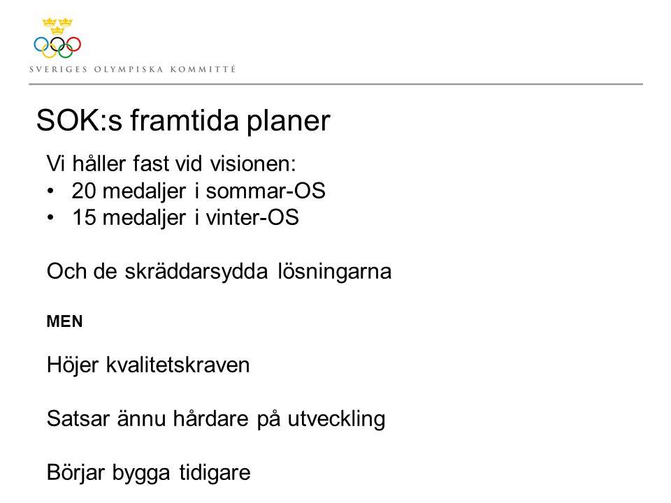 SOK:s framtida planer Vi håller fast vid visionen: