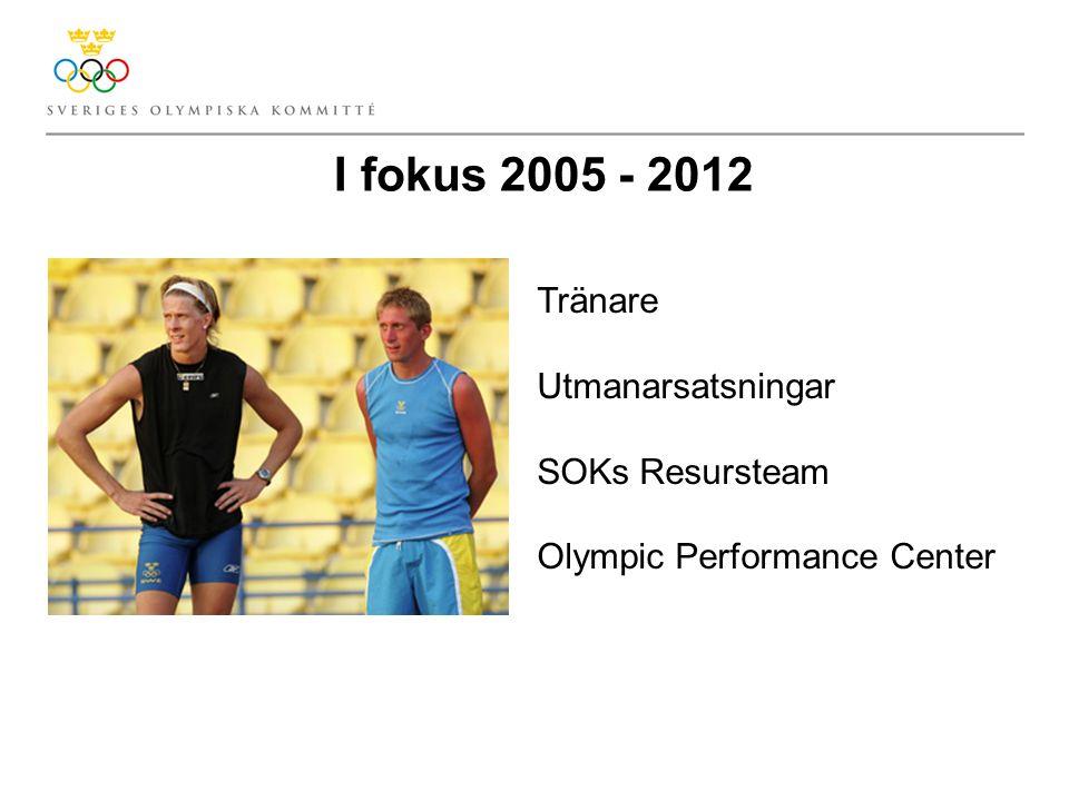I fokus 2005 - 2012 Tränare Utmanarsatsningar SOKs Resursteam