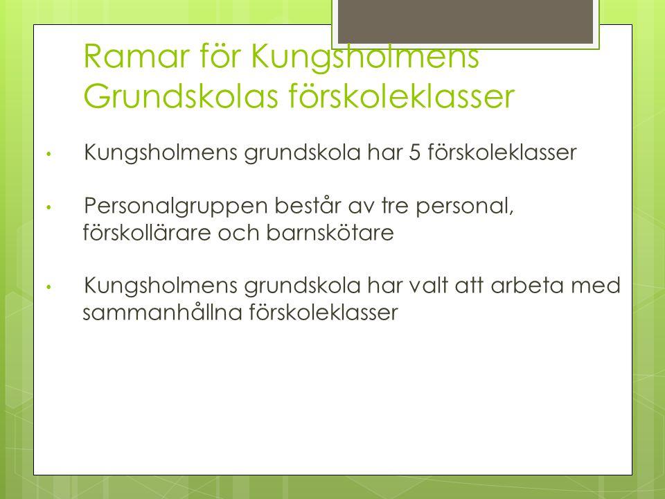 Ramar för Kungsholmens Grundskolas förskoleklasser
