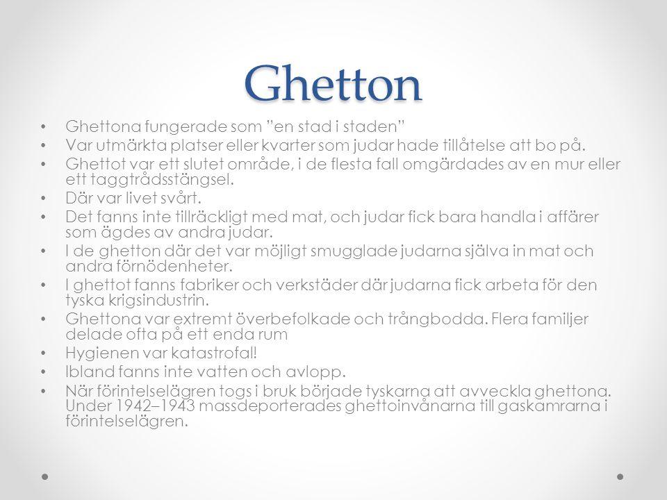 Ghetton Ghettona fungerade som en stad i staden