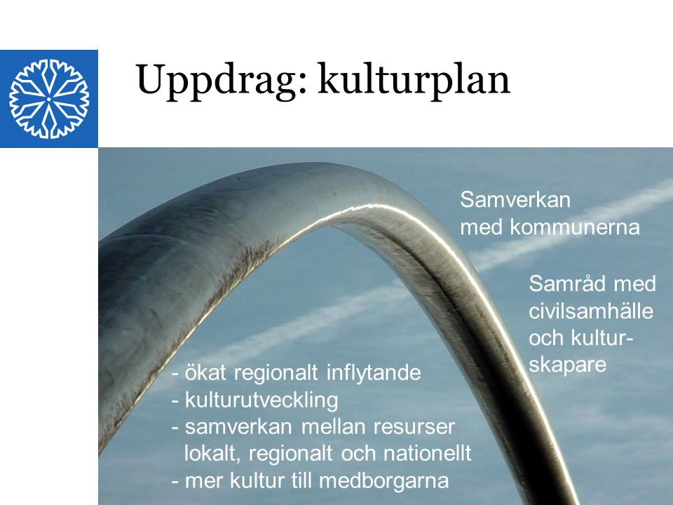 Uppdrag: kulturplan Samverkan med kommunerna