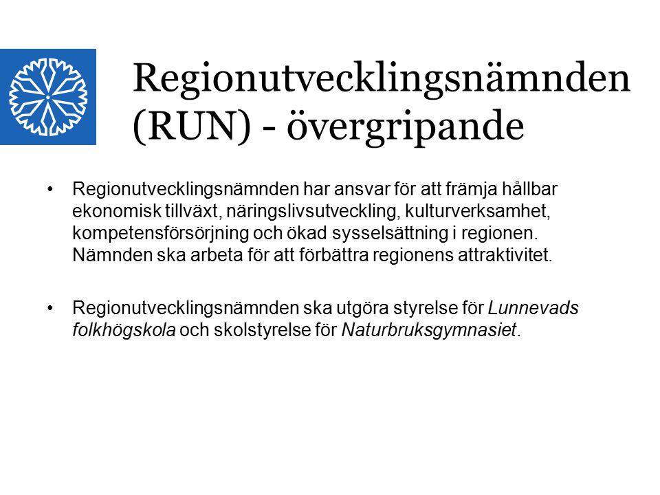 Regionutvecklingsnämnden (RUN) - övergripande