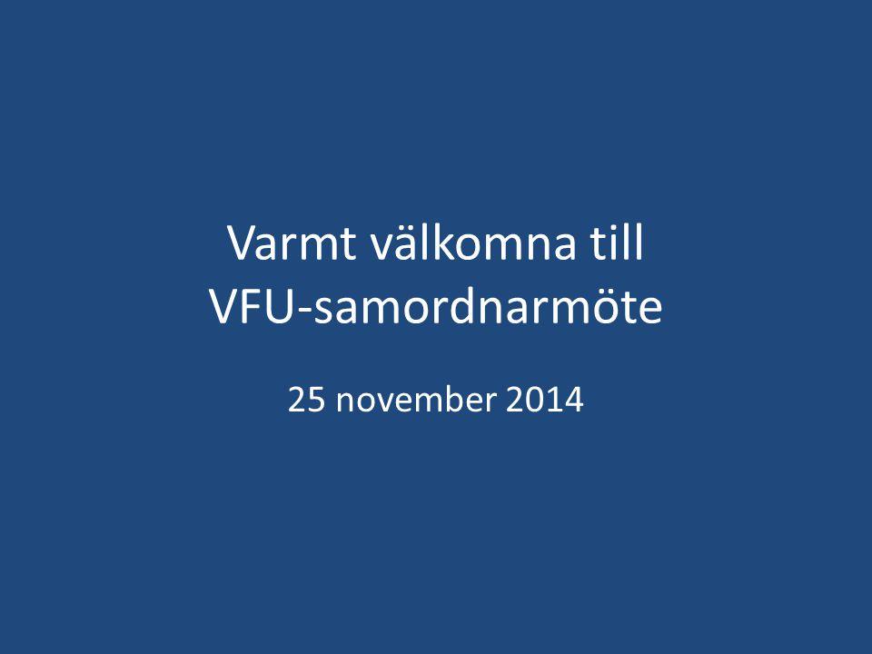 Varmt välkomna till VFU-samordnarmöte