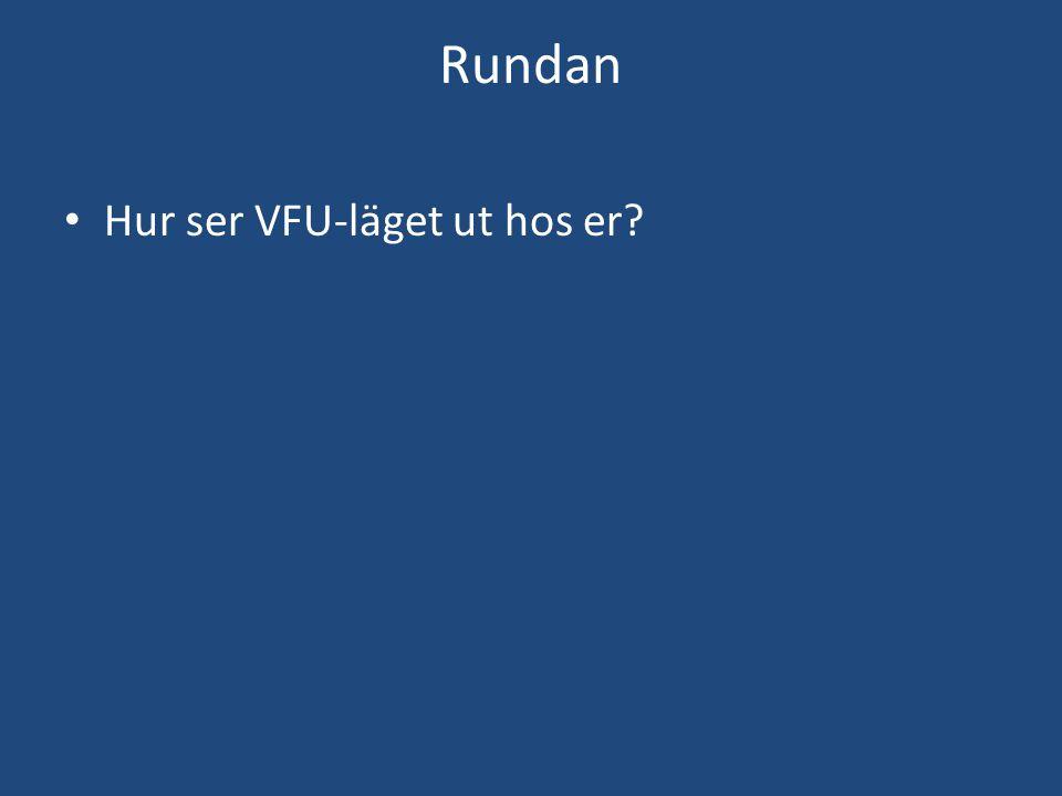 Rundan Hur ser VFU-läget ut hos er