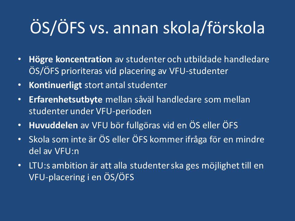ÖS/ÖFS vs. annan skola/förskola