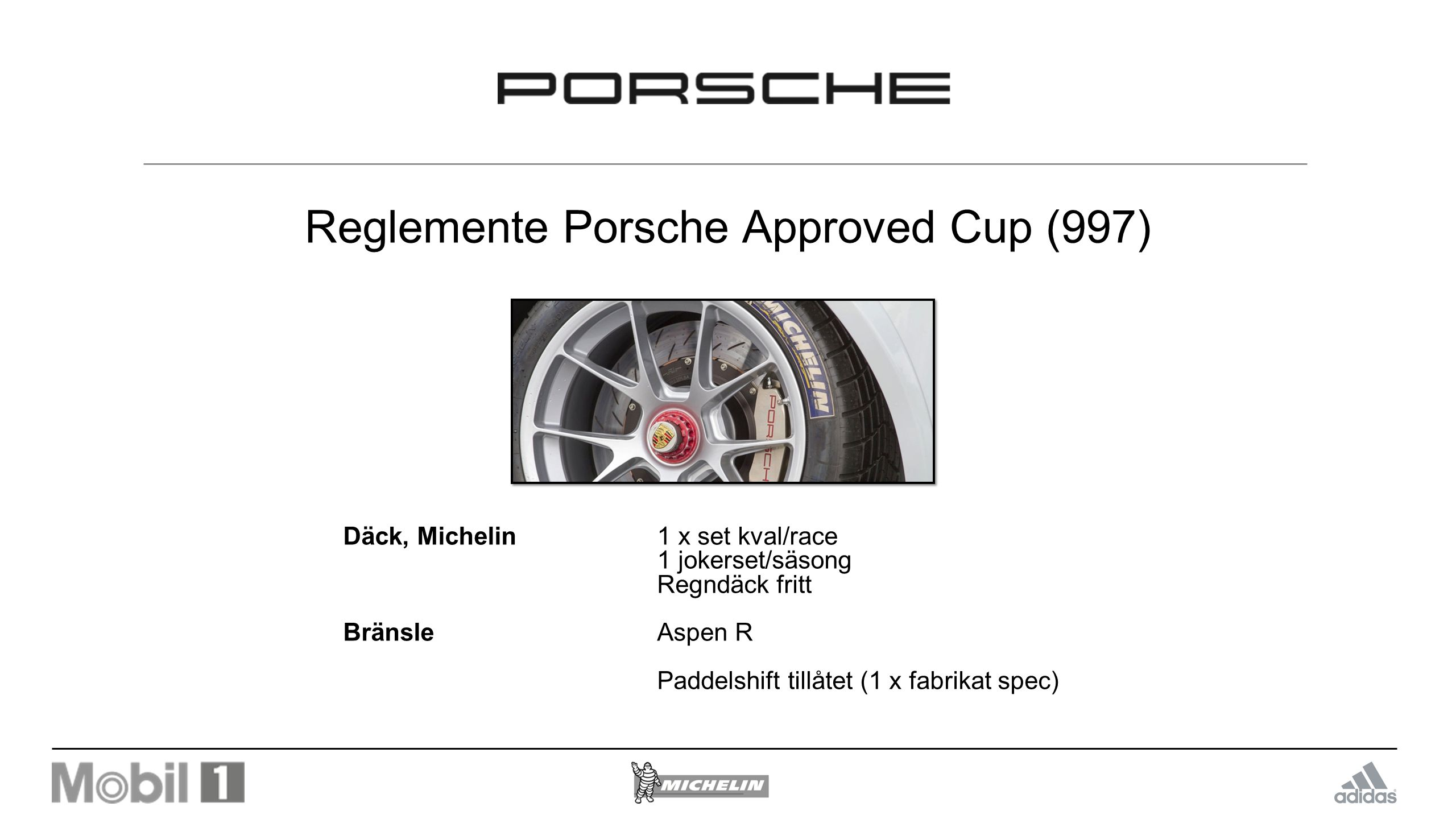 Reglemente Porsche Approved Cup (997)