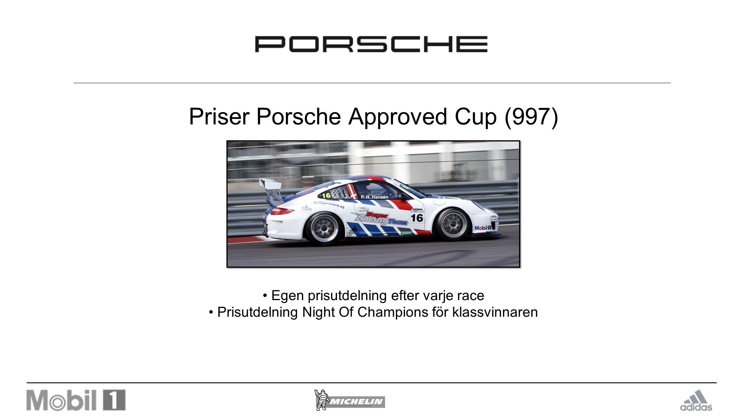 Priser Porsche Approved Cup (997)