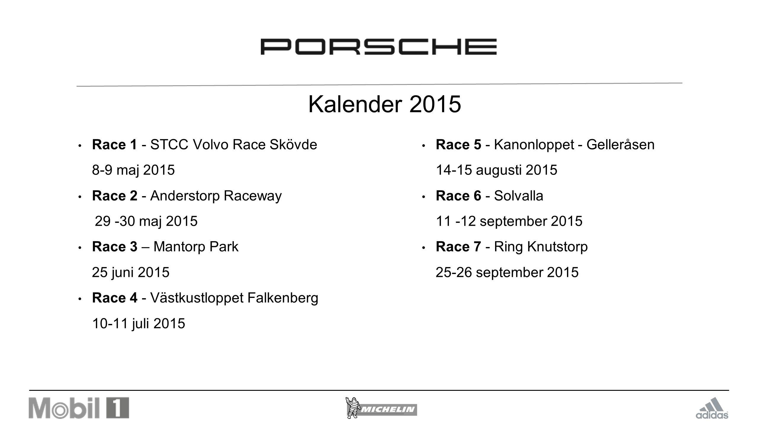 Kalender 2015 Race 1 - STCC Volvo Race Skövde 8-9 maj 2015