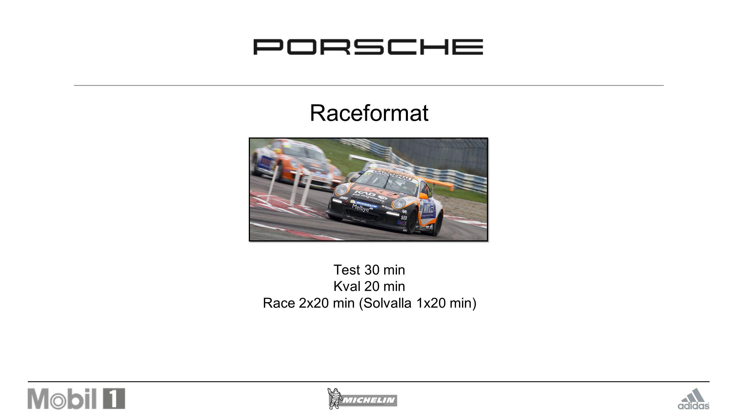 Race 2x20 min (Solvalla 1x20 min)