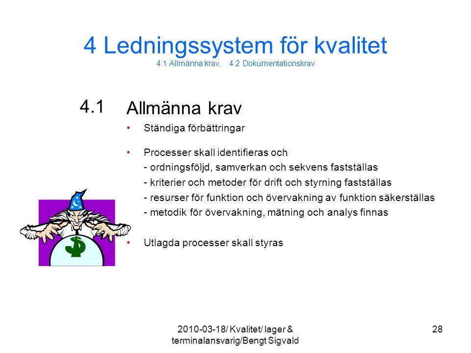 4 Ledningssystem för kvalitet