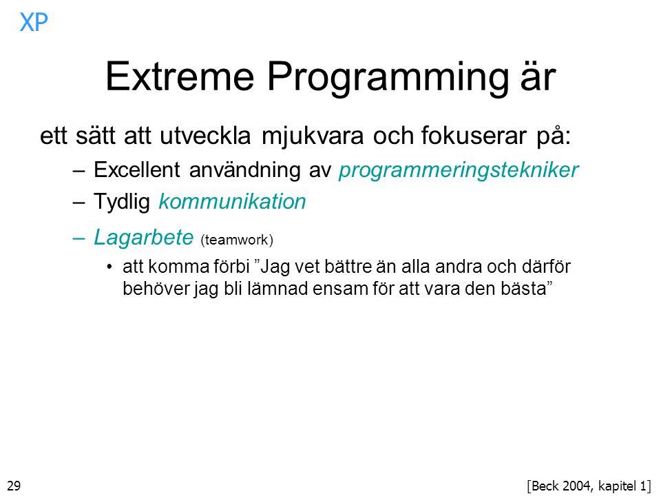 Extreme Programming är
