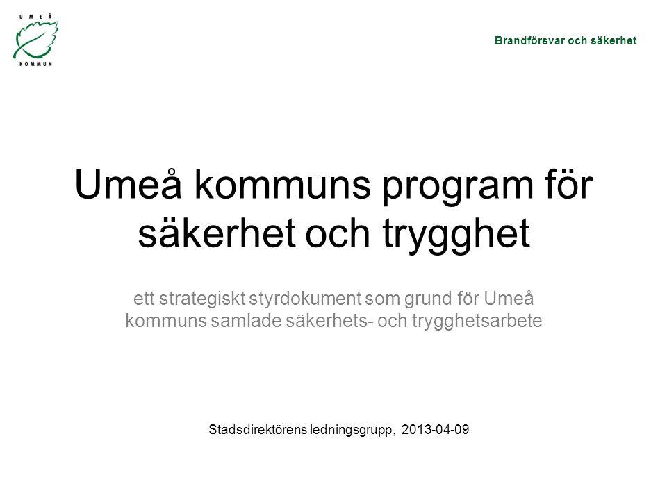 Umeå kommuns program för säkerhet och trygghet