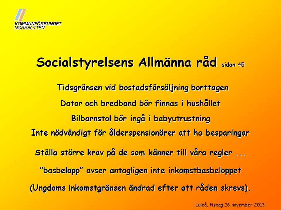 Socialstyrelsens Allmänna råd sidan 45