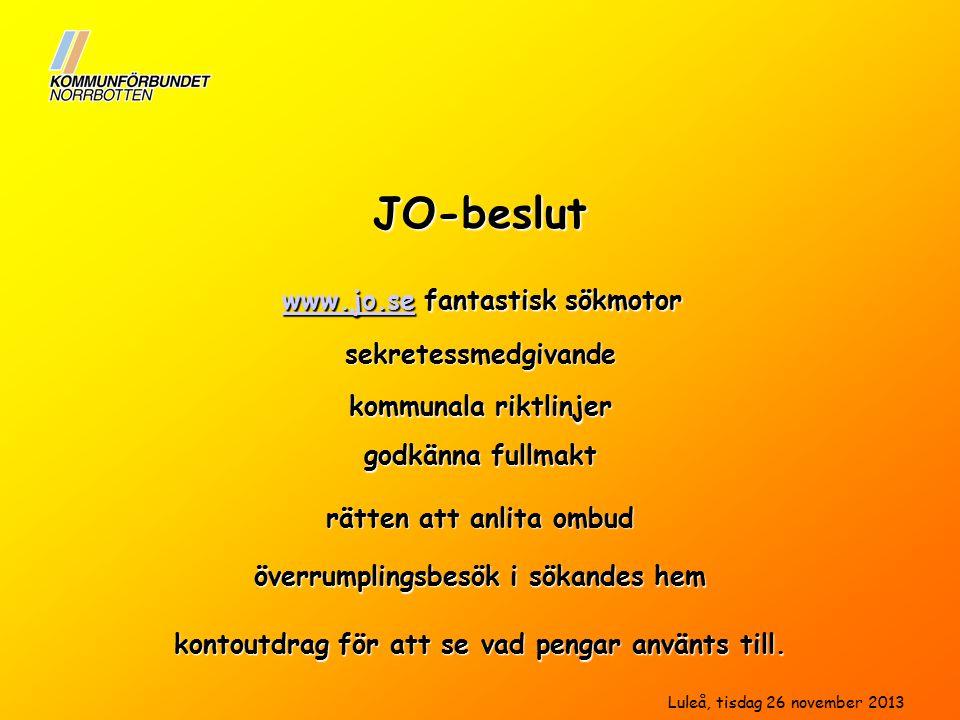 JO-beslut www.jo.se fantastisk sökmotor sekretessmedgivande