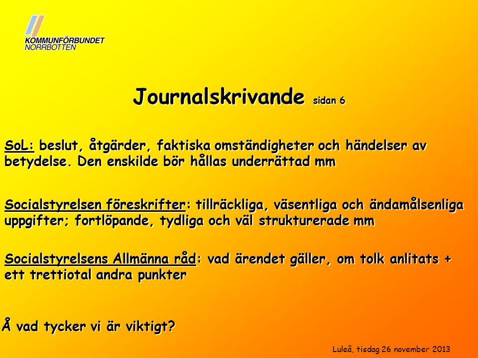 Journalskrivande sidan 6