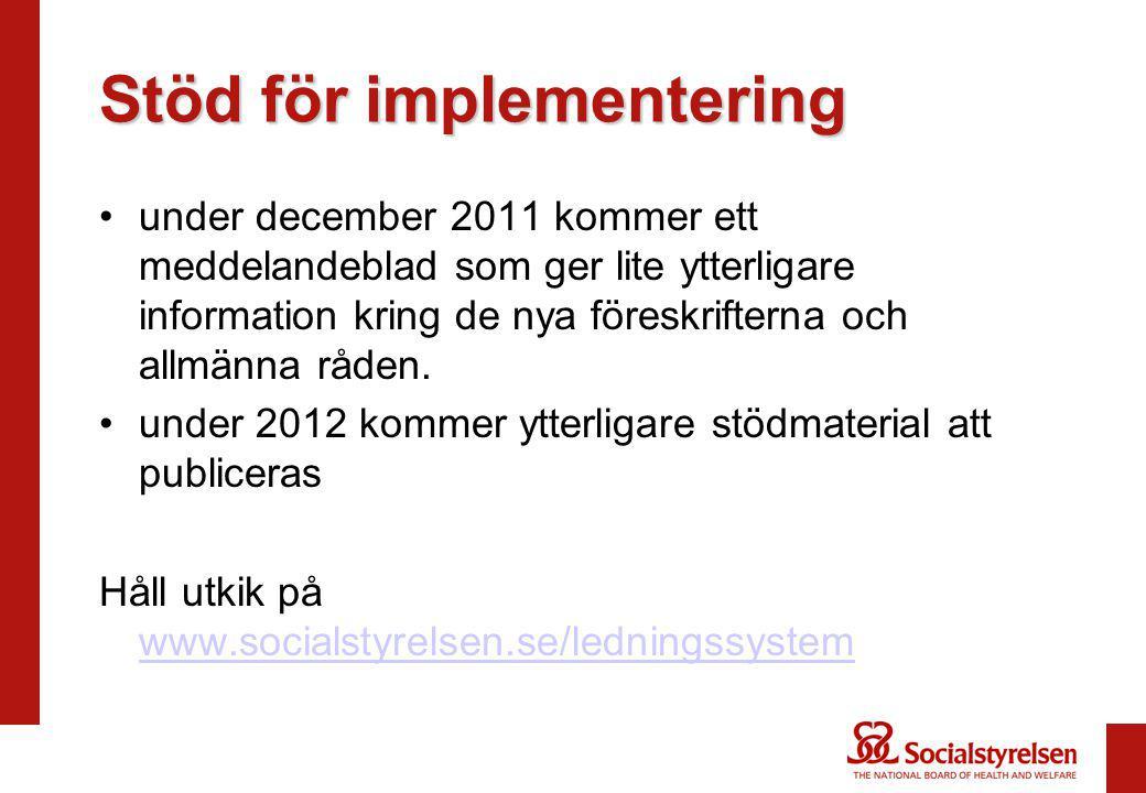 Stöd för implementering
