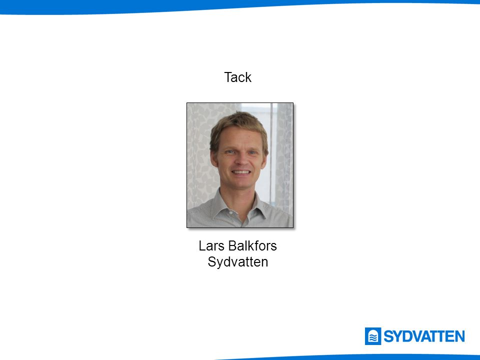 Tack Lars Balkfors Sydvatten