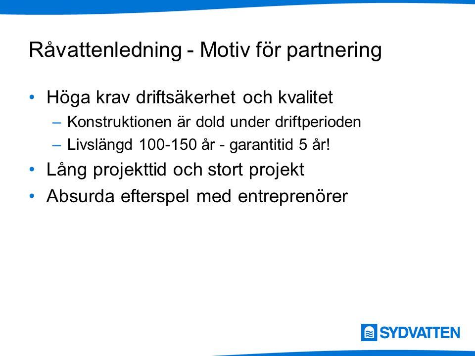 Råvattenledning - Motiv för partnering