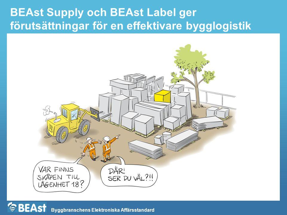 BEAst Supply och BEAst Label ger förutsättningar för en effektivare bygglogistik