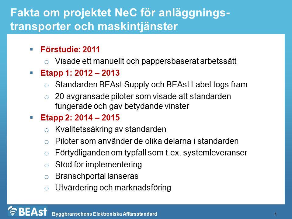 Fakta om projektet NeC för anläggnings-transporter och maskintjänster