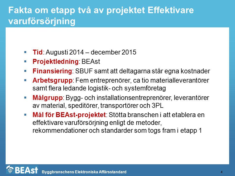 Fakta om etapp två av projektet Effektivare varuförsörjning