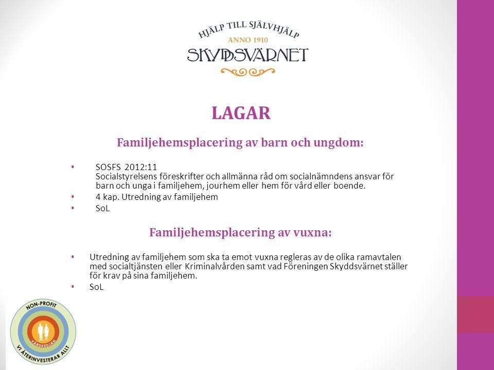LAGAR Familjehemsplacering av barn och ungdom: