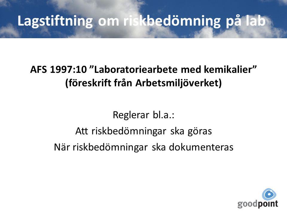Lagstiftning om riskbedömning på lab