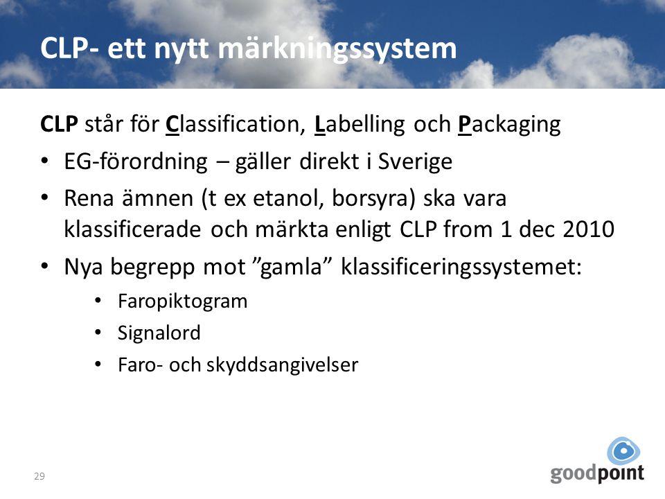 CLP- ett nytt märkningssystem