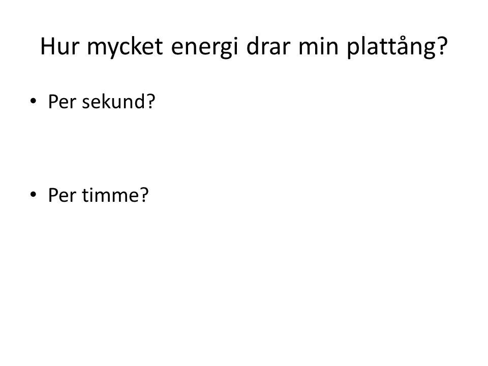 Hur mycket energi drar min plattång