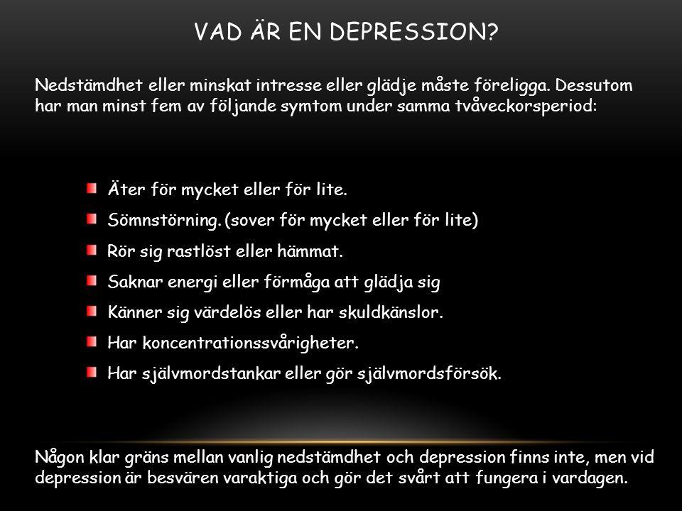 Vad är en depression