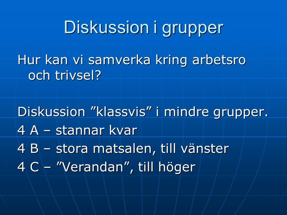 Diskussion i grupper