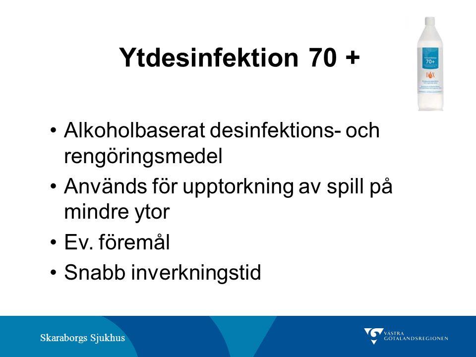 Ytdesinfektion 70 + Alkoholbaserat desinfektions- och rengöringsmedel