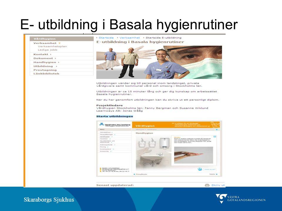 E- utbildning i Basala hygienrutiner