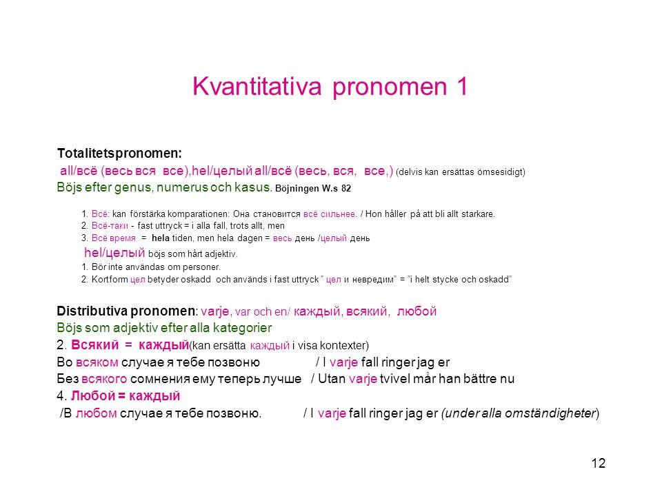 Kvantitativa pronomen 1