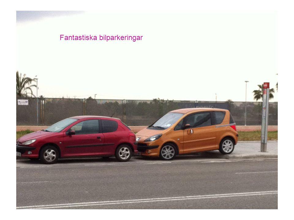 Fantastiska bilparkeringar