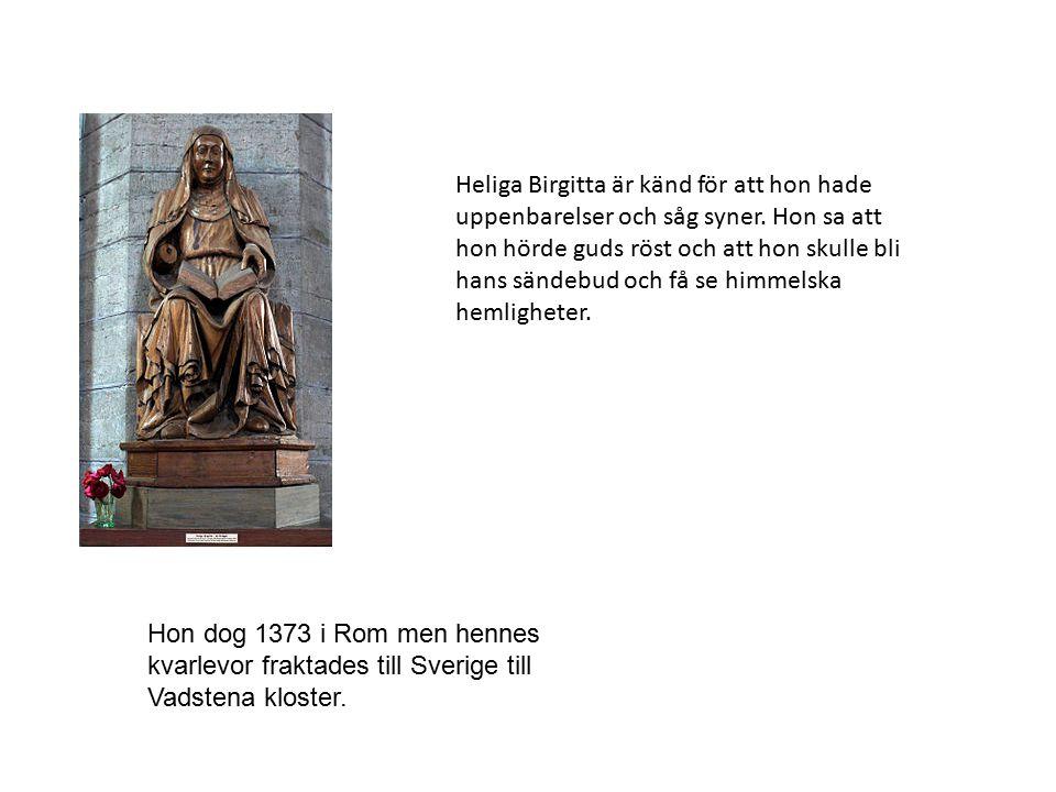 Heliga Birgitta är känd för att hon hade uppenbarelser och såg syner