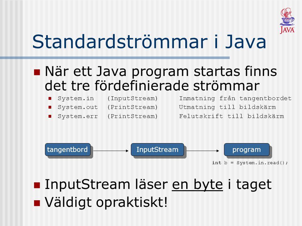 Standardströmmar i Java