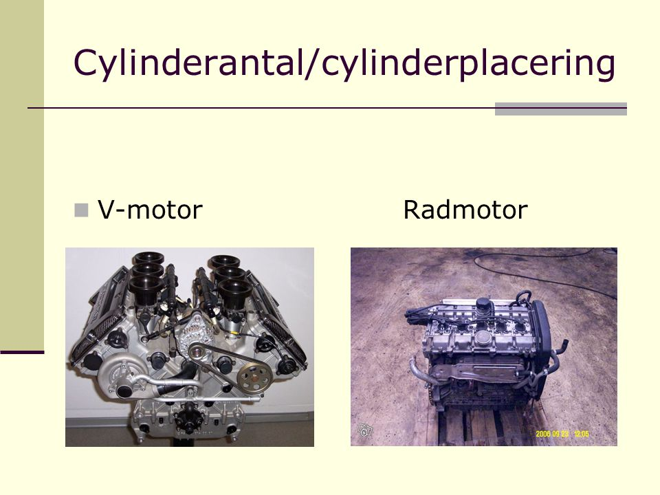 Cylinderantal/cylinderplacering