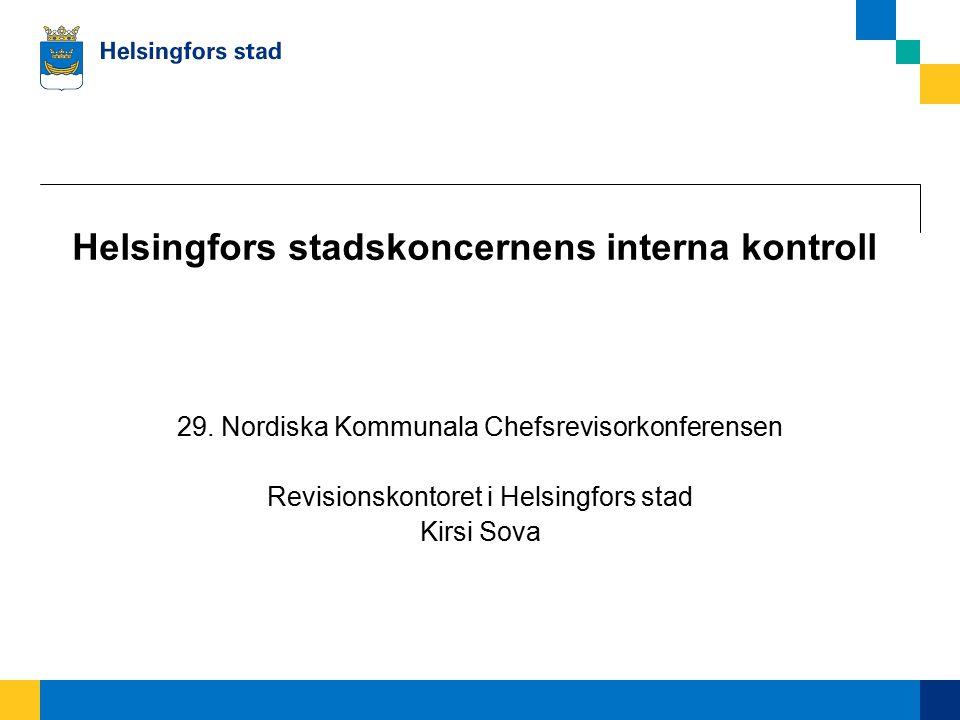 Helsingfors stadskoncernens interna kontroll