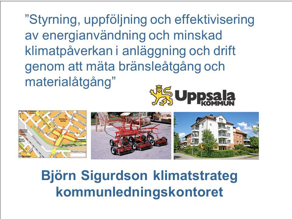Björn Sigurdson klimatstrateg kommunledningskontoret