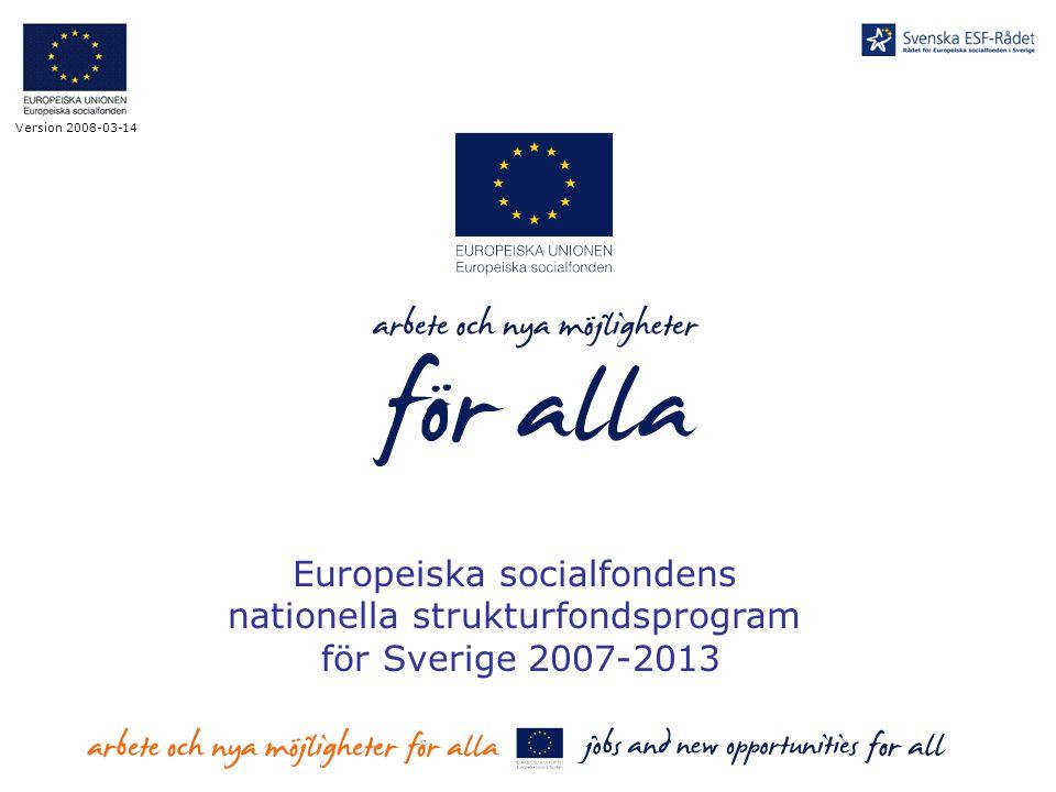 Europeiska socialfondens nationella strukturfondsprogram