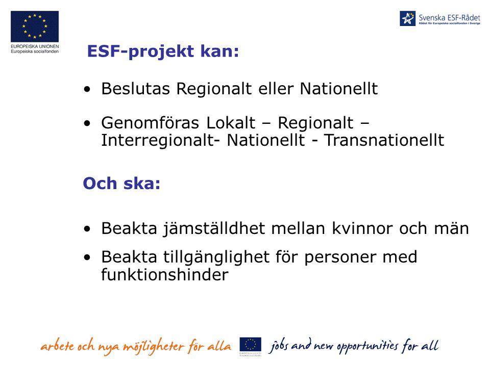 Beslutas Regionalt eller Nationellt