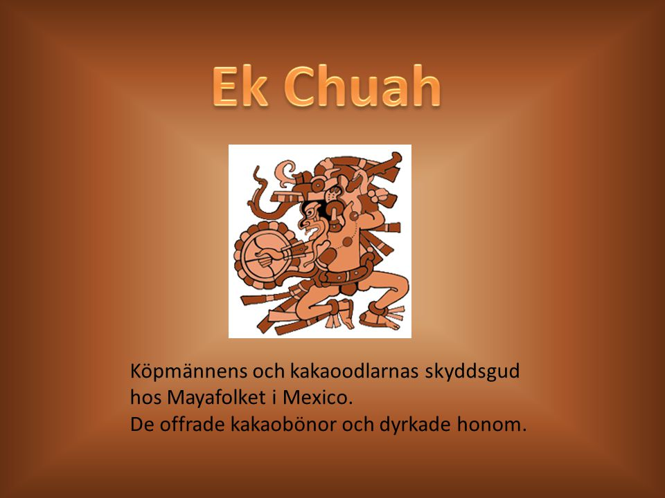 Ek Chuah Choklad betraktades förr som djävulens frestelse och var förbjudet att dricka för personer under 60 år i centralamerikanska byar.