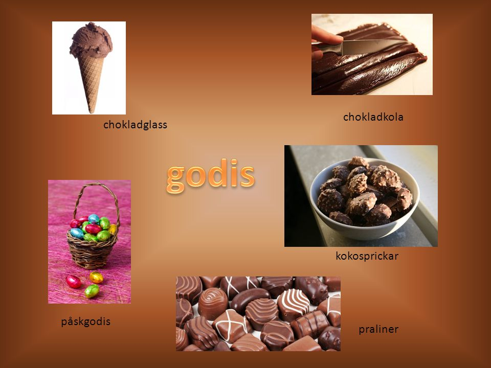 chokladkola chokladglass godis kokosprickar påskgodis praliner
