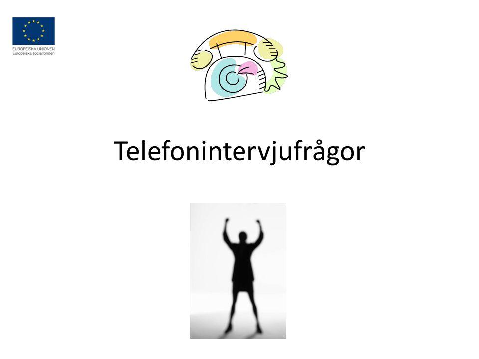 Telefonintervjufrågor